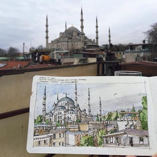jhanchett via archisketcher istanbul hagia sophia