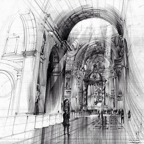architectural illustration by term art via archisketcher