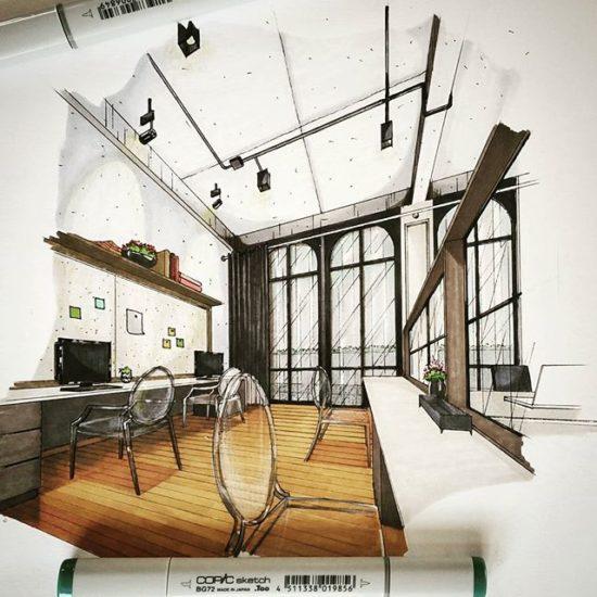 How architect uses instagram ArchiSketcher tamaov66